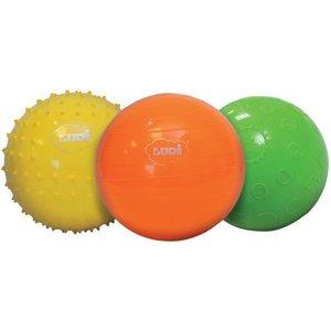 Ballen 3 stuks, massage, alfabet en spelbal