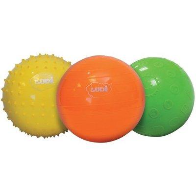 Ludi ballen 3 stuks, massage, alfabet en spelbal