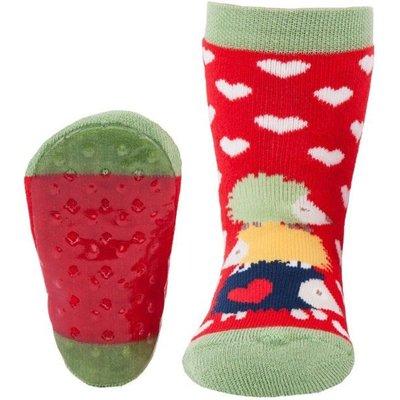 Ewers anti-slip sokken Stoppi egel rood