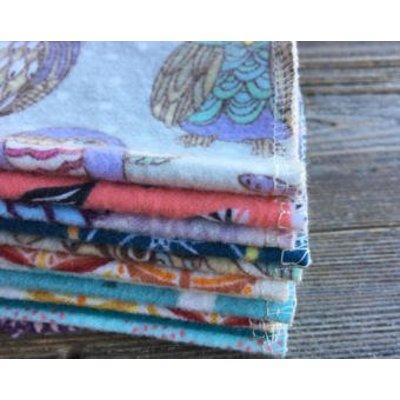 Herbruikbare baby doek doekjes 17.5x12.5, 100% katoen flanel doek-2 lagen-Ultra zacht – 20 stuks