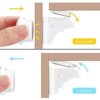 BabyDan Baby safety Magnetische veiligheidsloten 8 stuks