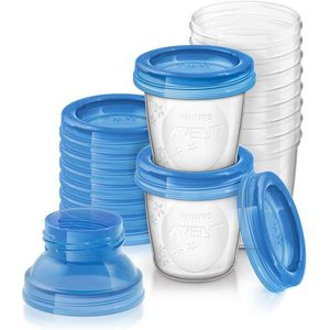 Philips Avent SCF618/10 - Bewaarbekers voor babyvoeding (180 ml) - 10 stuks