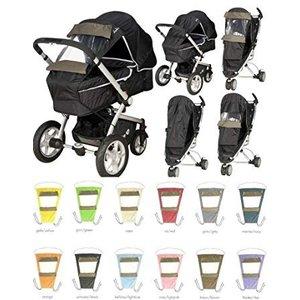 Playshoes zonnescherm  buggy/kinderwagen  grijs/zwart met kijkscherm