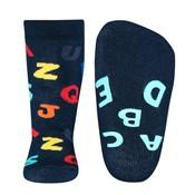 Ewers anti-slip sokken Stoppi uni ABC blauw