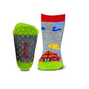Ewers anti-slip sokken Stoppi boederij/ vliegtuig grijs