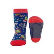 Ewers anti-slip sokken Stoppi softstep vlinders Blauw / roze