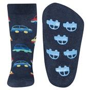 Ewers anti-slip sokken Stoppi softstep auto`s donker blauw Op=Op