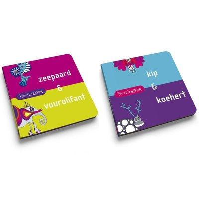 Hippe Kip & Koter voelboekje: Zeepaard & Vuurolifant