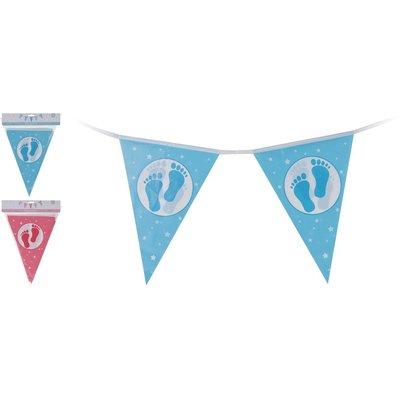 Baby vlaggenlijn voor geboorte/ babyshower 3.5 meter