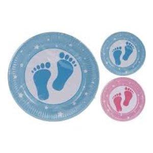 Papieren bordjes voor babyshower/ geboorte 23 cm