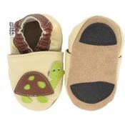 Hobea - babyslofjes - loopslofjes - schildpad - beige