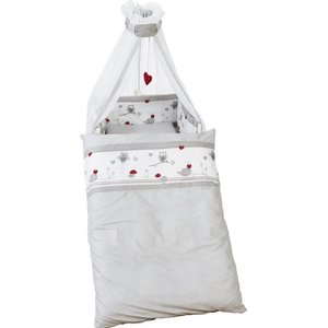 Roba 4 delig wiegenset (kussen, deken, hemeltje, bedrandbeschermer) 100x35