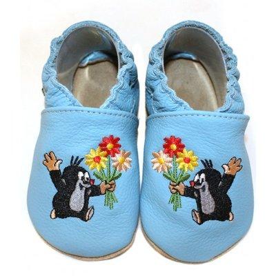 Hobea - babyslofje - de kleine mol, blauw