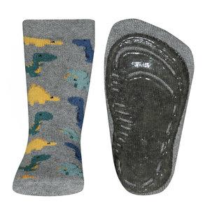 Ewers anti-slip sokken Stoppi softstep dino grijs