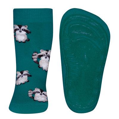 Ewers anti-slip sokken Stoppi softstep wasbeer groen