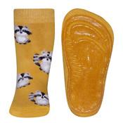 Ewers anti-slip sokken Stoppi softstep wasbeer geel