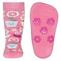 Ewers anti-slip sokken Stoppi softstep bloemen roze