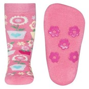 Ewers anti-slip sokken Stoppi softstep bloemen roze Op=Op