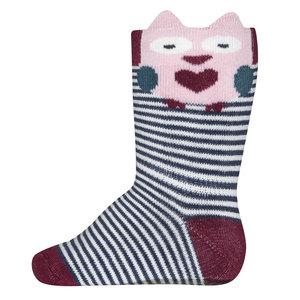 Ewers anti-slip sokken Stoppi softstep uilen roze