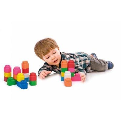 B grade: Clementoni Baby Clemmy tas met 24 zachte speelblokken