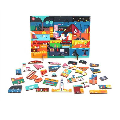 ikonic Kars + Boom Jigsaw Puzzle 'Day' - colorful design toys