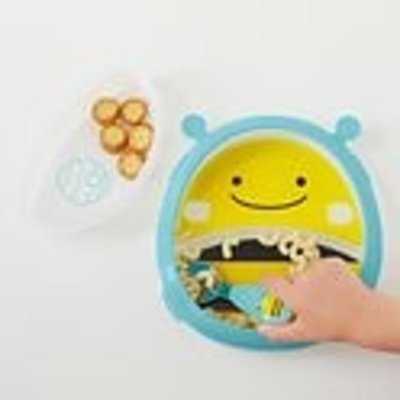 Skip Hop Zoo Smart Serve plate & bowl Set - Bee