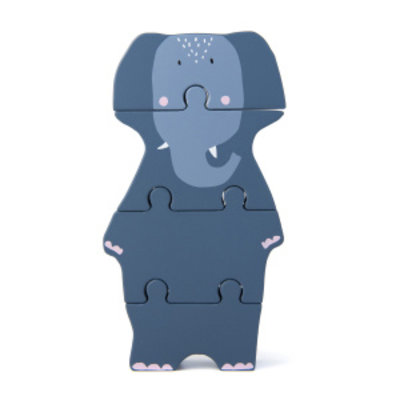 Trixie trixie houten dierenvormpuzzel Mrs. Elephant