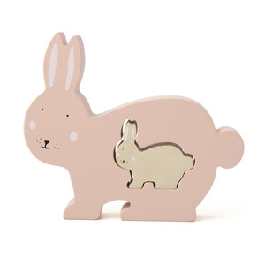 Trixie trixie houten babypuzzel Mrs. Rabbit