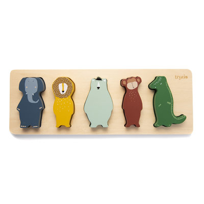 Trixie trixie houten vormenpuzzel dieren