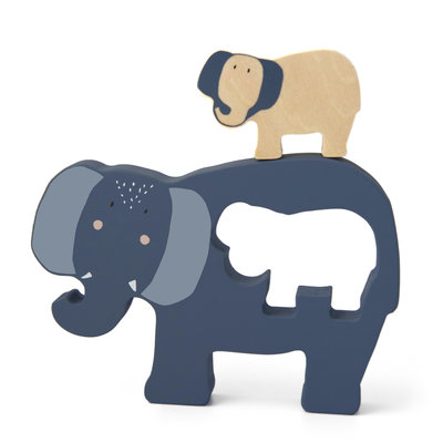 Trixie trixie houten babypuzzel Mrs. Elephant