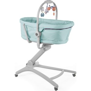 chicco Chicco Baby Hug 4-in-1 Wieg - Met speelboog - Babygym - Inclusief wiegmatras - Aquarelle