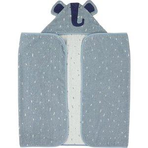 trixie Trixie  Hooded towel , 70x130cm - Mrs. Elephant Blauw