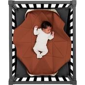 hangloose Hangloose Baby Baby boxkleed, speelkleed en hangmat in één - Dusty Terra Roestbruin - Bamboo stof - 98 x 78 cm Terra