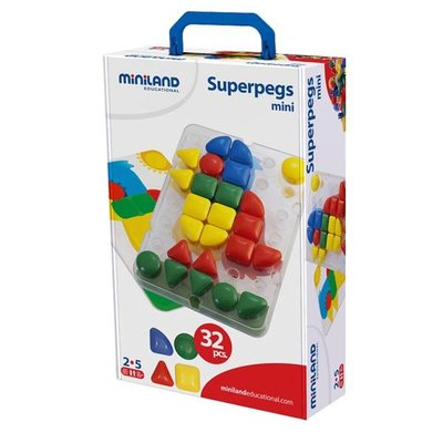 Miniland Mozaiek Superpegs, 36 mm (32 stuks)