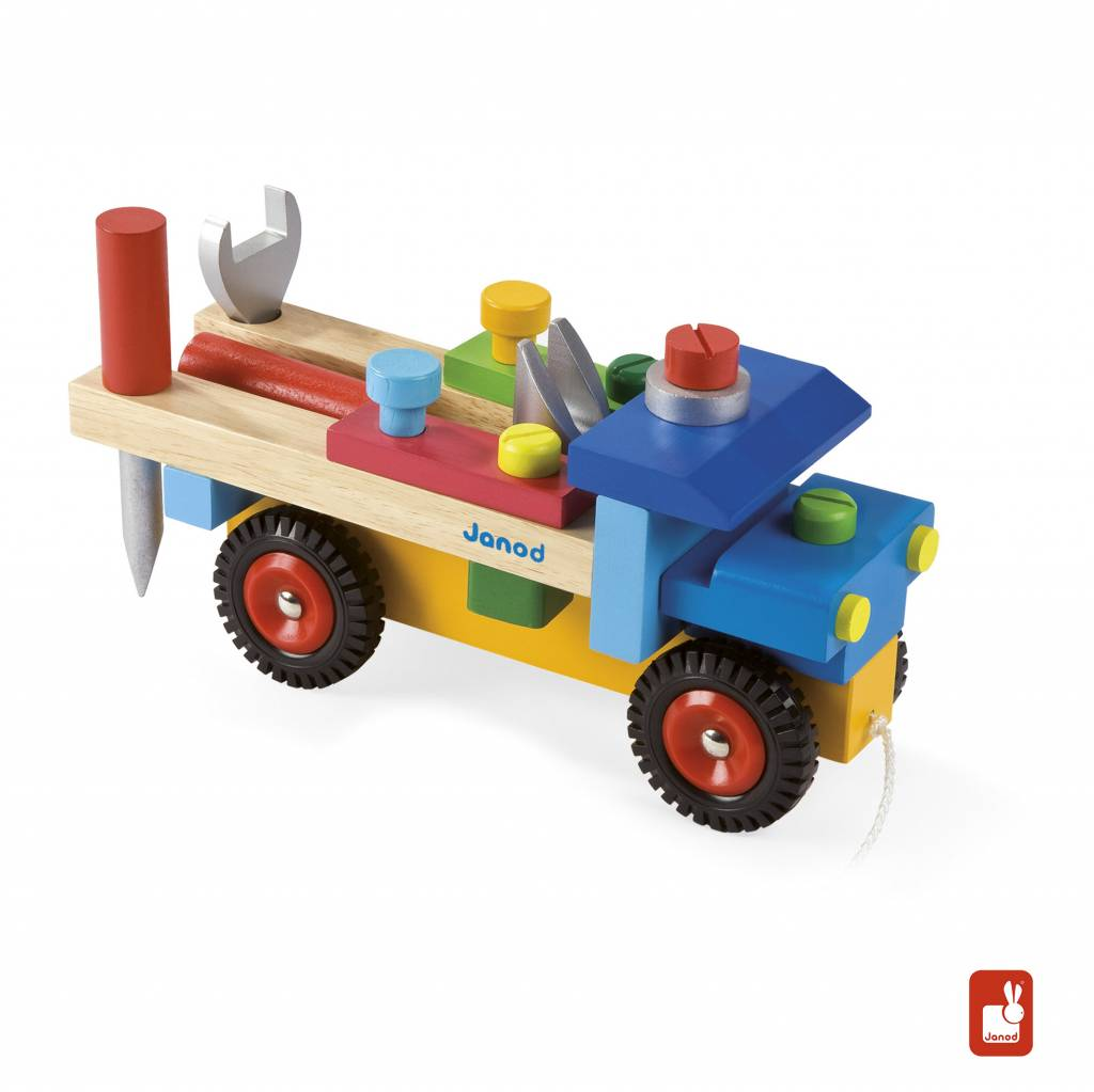 Janod Trekfiguur, Vrachtwagen met accessoires - Educatief ...