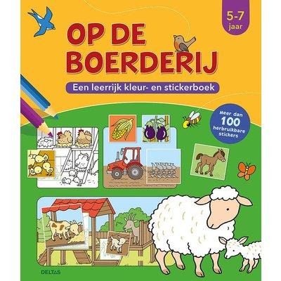 Deltas Op de boerderij -  een leerrijk kleur- en stickerboek