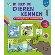 Deltas Ik leer de dieren kennen - een leerrijk kleur- en stickerboek