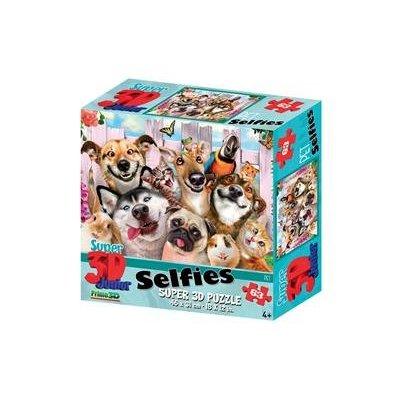 Prime3D 3D Puzzel, Huisdieren Selfie, 63 stuks