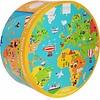 Scratch Puzzel Wereldkaart