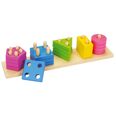 Goki Sorteerspel - kleuren en vormen