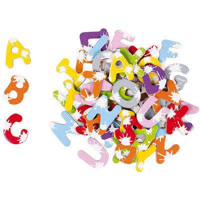 Janod 52 magnetische houten letters - splash