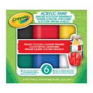 Crayola Acrylverf - primaire tinten, 6 stuks