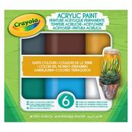 Crayola Acrylverf - aarde tinten, 6 stuks