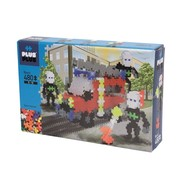 Plus-Plus Mini basic - brandweerwagen - 480 stuks