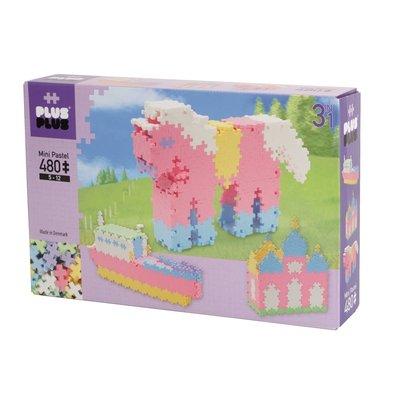 Plus-Plus Mini Pastel 3 in 1 - 480 stuks