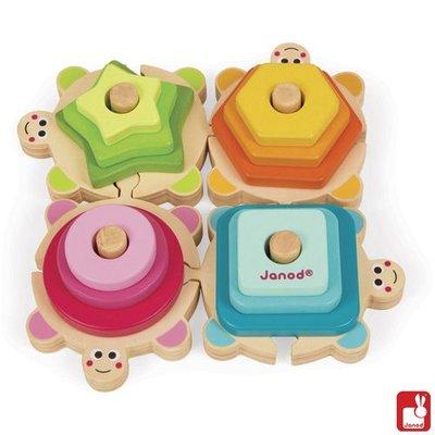 Janod I Wood - Stapel Schildpadjes