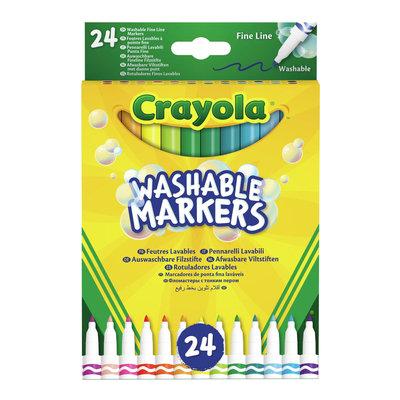 Crayola Afwasbare viltstiften met Dunne punt, 24 stuks