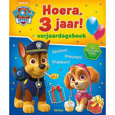 Deltas Verjaardagsboek - Paw  Patrol Hoera, 3 jaar!