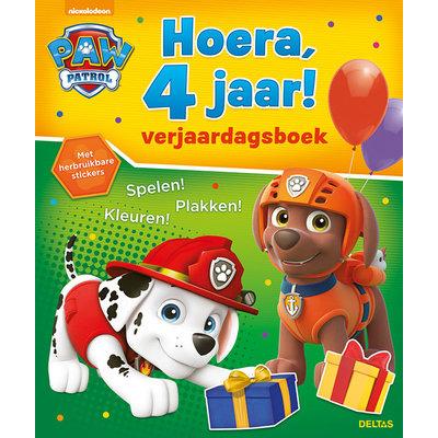 Deltas Verjaardagsboek - Paw Patrol Hoera, 4 jaar