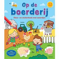 Deltas Kleur- en stickerboek met woordjes - op de boerderij (3-5 jaar)
